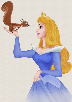 Princes Aurora Cartoon Image